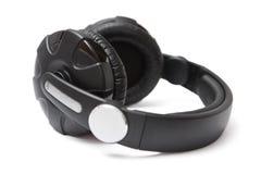 Écouteurs noirs Photo stock