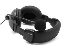 Écouteurs noirs Photos libres de droits