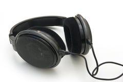 Écouteurs noirs Image stock
