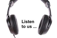 écouteurs noirs Photos stock