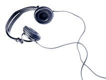 Écouteurs noirs d'isolement Photo libre de droits
