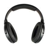 Écouteurs noirs d'isolement Photos libres de droits