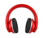 Écouteurs rouges d'isolement rendu 3d illustration libre de droits