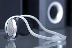 Écouteurs sonores Photos stock