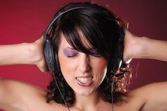 Écouteurs sur la tête Images stock