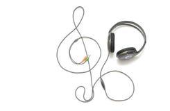Écouteurs sur le fond blanc d'isolement Photo stock
