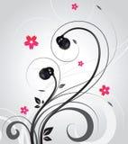 Écouteurs sur le fond bouclé abstrait Image stock