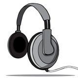Écouteurs sur un fond blanc. Vecteur Image libre de droits