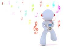 Écoutez la musique Images libres de droits