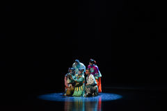 """Écoutez le  de teenager†de Pékin Opera""""Yue des histoire-enfants Photographie stock"""