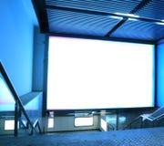 Écran électroluminescent de couloir de station de métro Photographie stock libre de droits