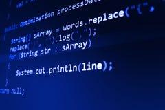 Écran abstrait de programmation de code de programmateur de logiciel Photographie stock libre de droits