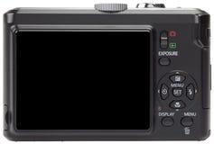 Écran blanc sur un appareil photo numérique compact Images libres de droits