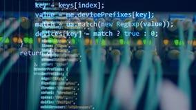 Écran bleu avec le code numérique banque de vidéos