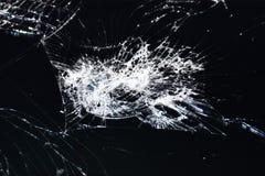 Écran cassé de téléphone, de comprimé ou d'un certain instrument images stock