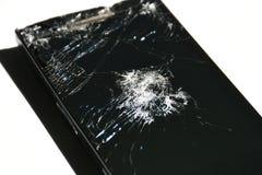 Écran cassé de téléphone, de comprimé ou d'un certain instrument photos stock