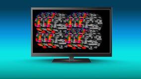 Écran d'affichage à cristaux liquides avec la charge statique colorée banque de vidéos