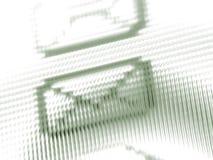 Écran d'email Image stock