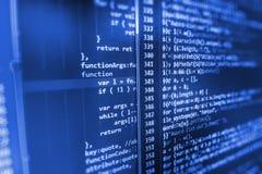 Écran d'espace de travail de programmateur de logiciel Images libres de droits