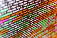 Écran d'espace de travail de programmateur de logiciel Image libre de droits