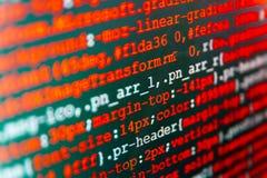 Écran d'espace de travail de programmateur de logiciel Images stock