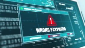 Écran d'ordinateur d'avertissement de message d'erreur d'alerte de sécurité des systèmes de problème technique Erreur d'avertisse illustration de vecteur