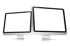 Écran d'ordinateur blanc Photo stock
