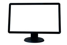Écran d'ordinateur d'isolement Photographie stock libre de droits