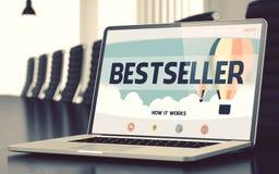 Écran d'ordinateur portable avec le concept de best-seller 3d illustration libre de droits