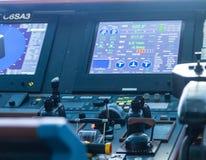 Écran de contrôles et de données de bateau photos libres de droits