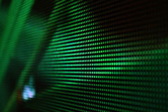 Écran de diagonall de LED vert-foncé Photos libres de droits