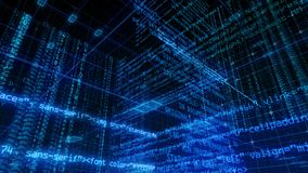 Écran de Digital de données d'ordinateur d'interface de technologie banque de vidéos