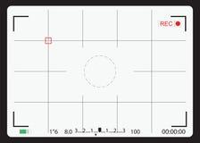 Écran de focalisation d'appareil-photo blanc Photos stock