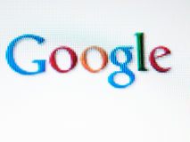 Écran de Google Photo stock