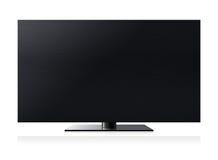 Écran de l'affichage à cristaux liquides TV illustration stock