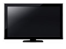 Écran de l'affichage à cristaux liquides TV Photos stock