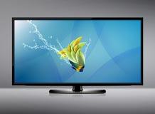 Écran de l'affichage à cristaux liquides TV Photo stock