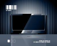 Écran de l'affichage à cristaux liquides TV de vecteur Photographie stock libre de droits