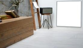 écran de l'espace de copie de blanc de fond d'espace de travail d'écran vide pour le yo Images libres de droits