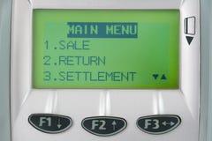 Écran de machine de crédit avec des boutons Photos libres de droits