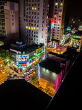 Écran de nuit en Corée Image libre de droits