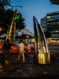 Écran de nuit en Corée Photographie stock libre de droits