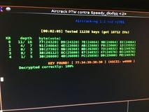 Écran de pirate informatique Image stock