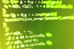 Écran de programmation de code source de codage Photos stock