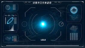 Écran de radar HUD Interface utilisateurs futuriste Illustration de vecteur pour votre eau doux de design canalisation de pointe illustration de vecteur