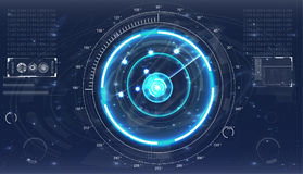 Écran de radar Interface utilisateurs futuriste illustration libre de droits