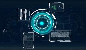 Écran de radar Interface utilisateurs futuriste illustration de vecteur