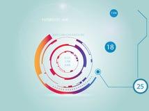 Écran de radar Interface utilisateurs futuriste illustration stock