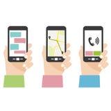 Écran de téléphone portable Image libre de droits