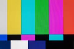 Écran de télévision avec le bruit statique provoqué par mauvais recepti de signal images libres de droits